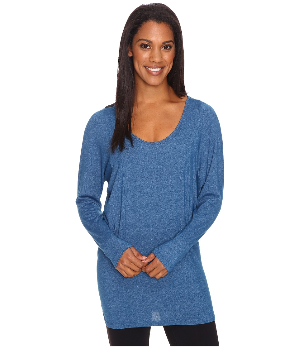 Lucy - Take A Pause Long Sleeve Tunic (Poseidon Heather) Women's Long Sleeve Pullover