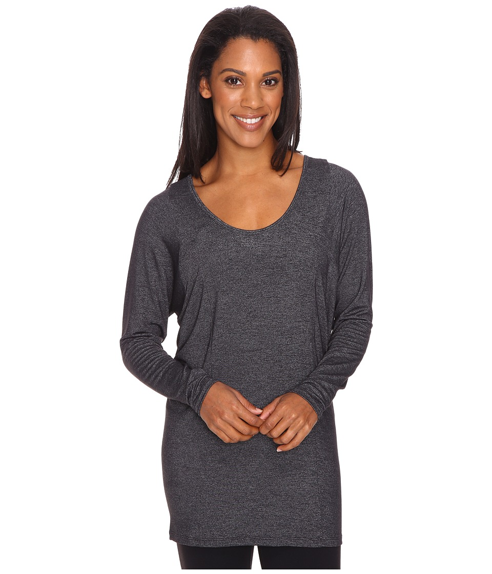 Lucy - Take A Pause Long Sleeve Tunic (Lucy Black Heather) Women's Long Sleeve Pullover