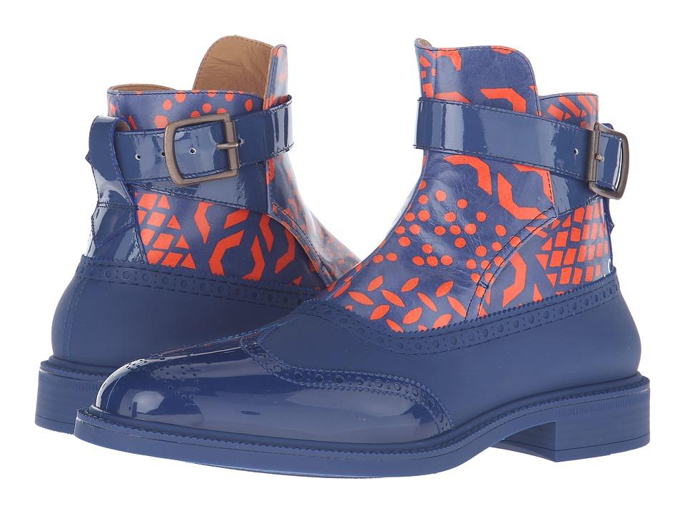 Vivienne Westwood Jodhpur Brogue Plastic Boot (Sapphire Blue) Men
