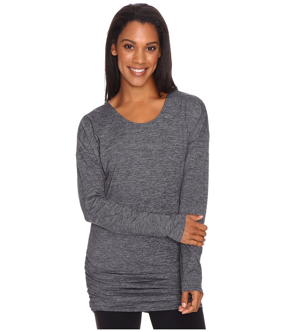 Lucy - Manifest Long Sleeve Tunic (Lucy Black Micro Stripe) Women's Long Sleeve Pullover