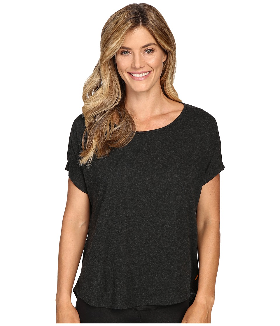 Lucy - Positive Mind Short Sleeve (Lucy Black Heather) Women's Short Sleeve Pullover