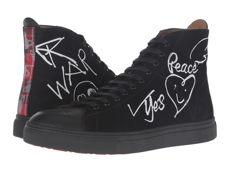 Vivienne Westwood - High Top Trainer (Black/White) Men's Lace up casual Shoes