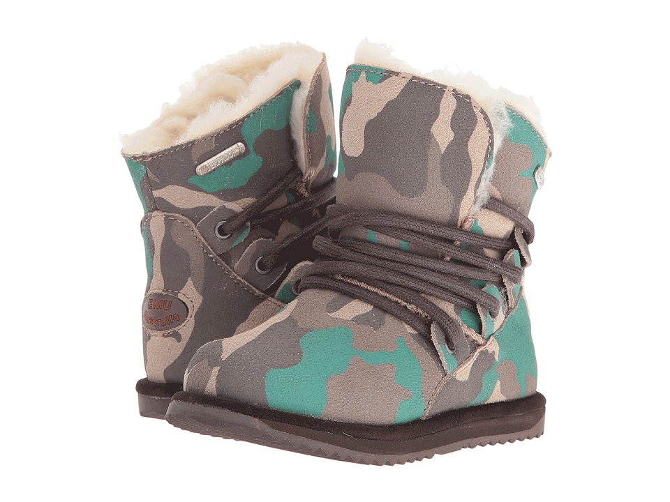 EMU Australia Kids - Paxton (Toddler/Little Kid) (Green Camo) Kids Shoes
