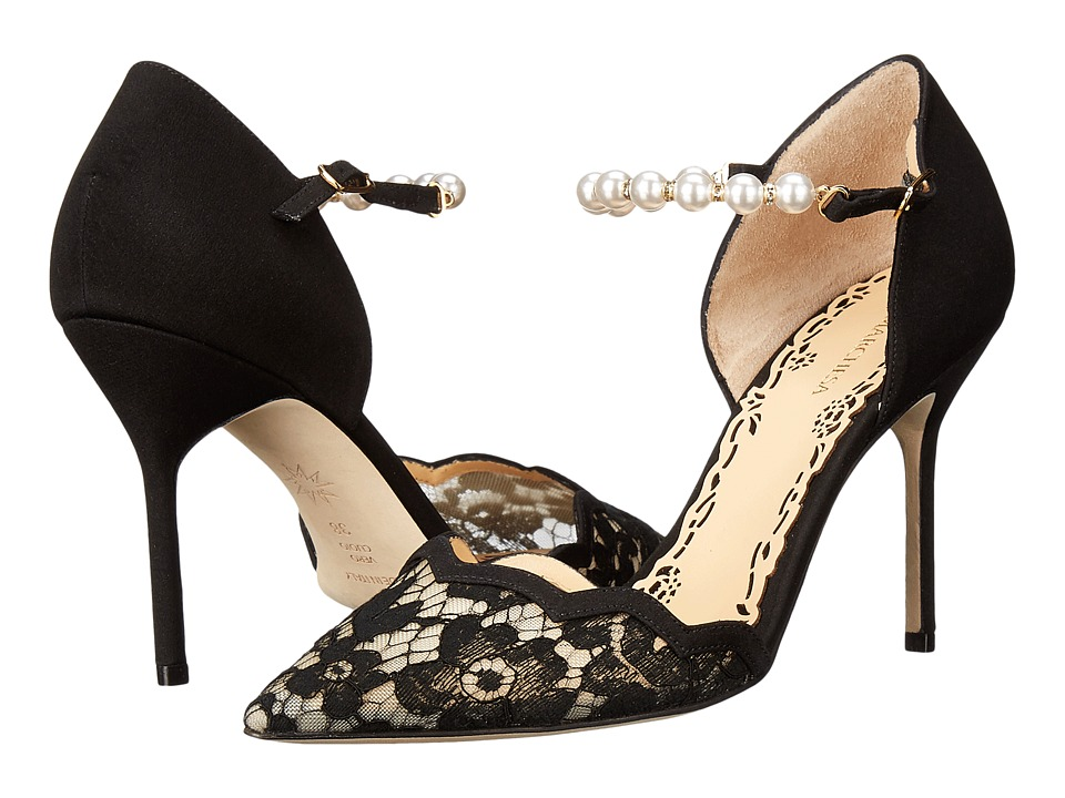 Marchesa Emma (Black Lace) High Heels