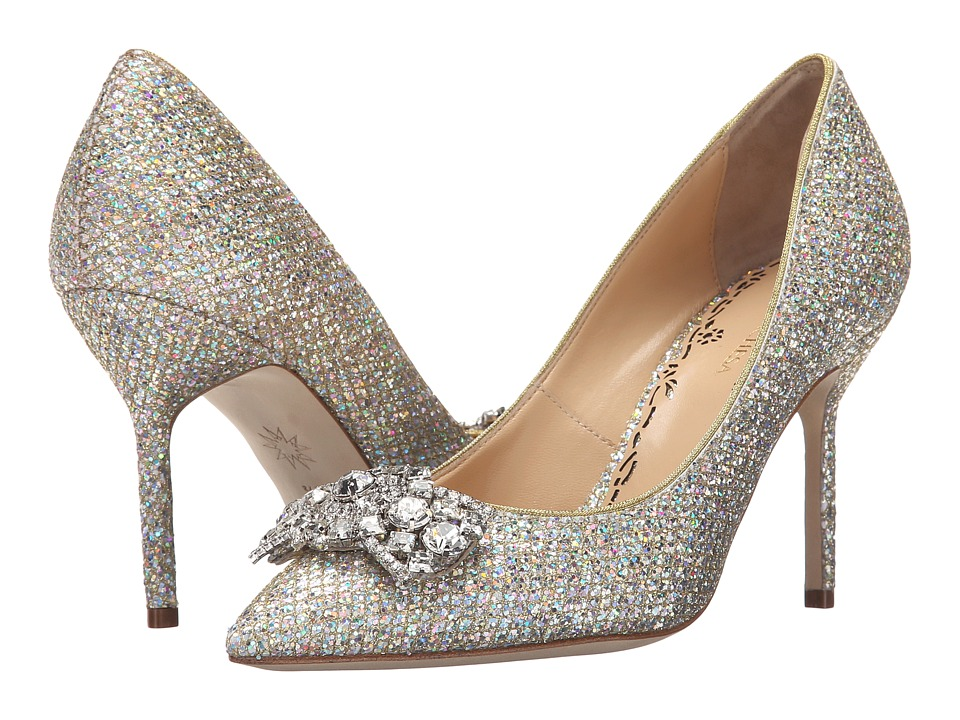 Marchesa - Gemmabow (Silver Glitter Fabric) High Heels