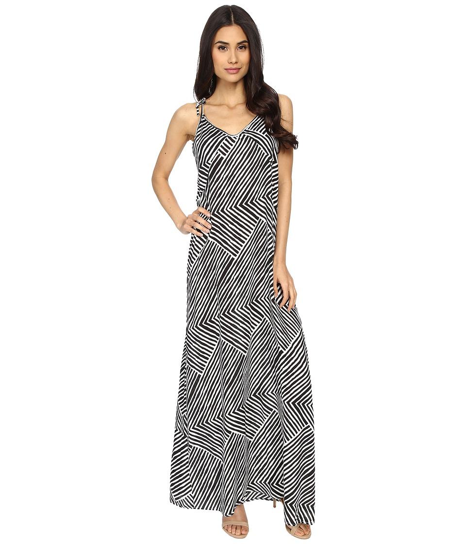 Echo Design - Paradise Weave Carol Maxi Top (Black) Women's Dress