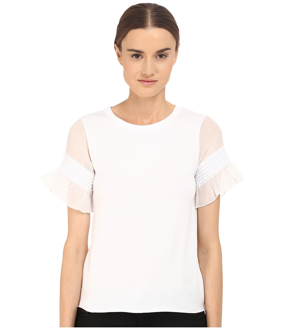 See by Chloe - Jersey Ruffle Sleeve Blouse (White) Women's Blouse