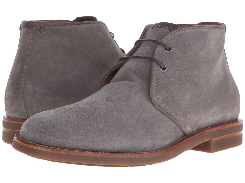 Aquatalia - Carlos (Stone Gray Suede/Gum Bottom) Men's Lace-up Boots