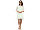 Adrianna Papell - Draped Sleeve Capelet Banded Dress
