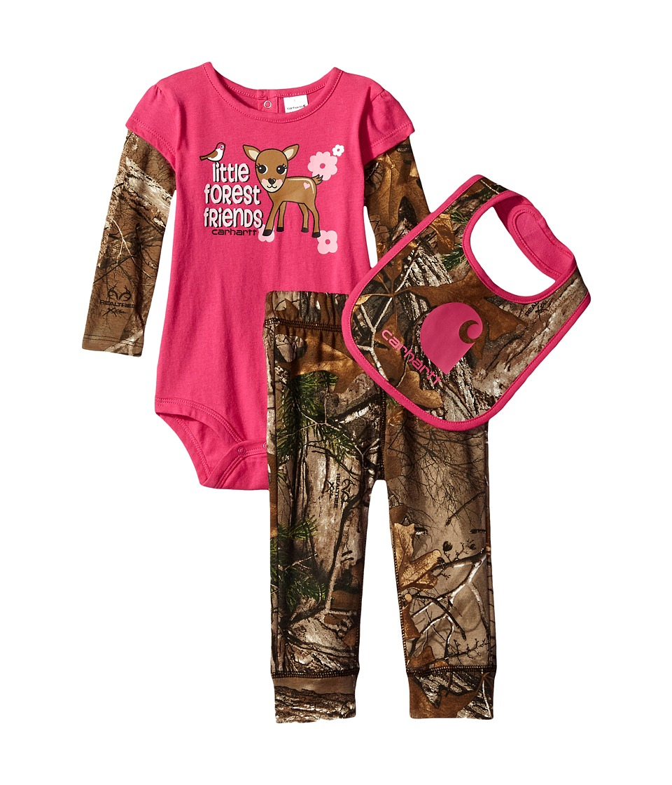 Carhartt Kids - Camo Three-Piece Gift Set (Infant) (Realtree Xtra Camo) Girl's Active Sets