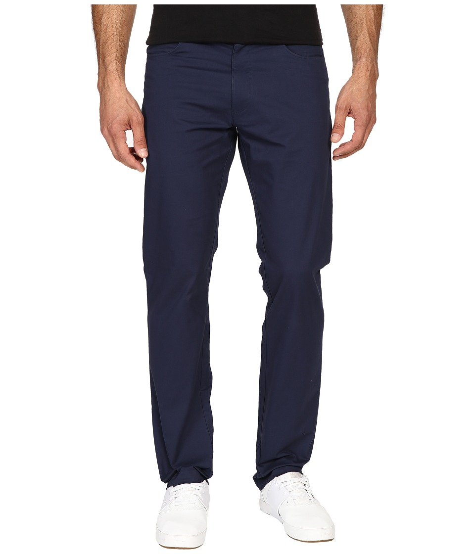 Calvin Klein - Four-Pocket Sateen Bowery Pants (Dress Blue) Men's Casual Pants