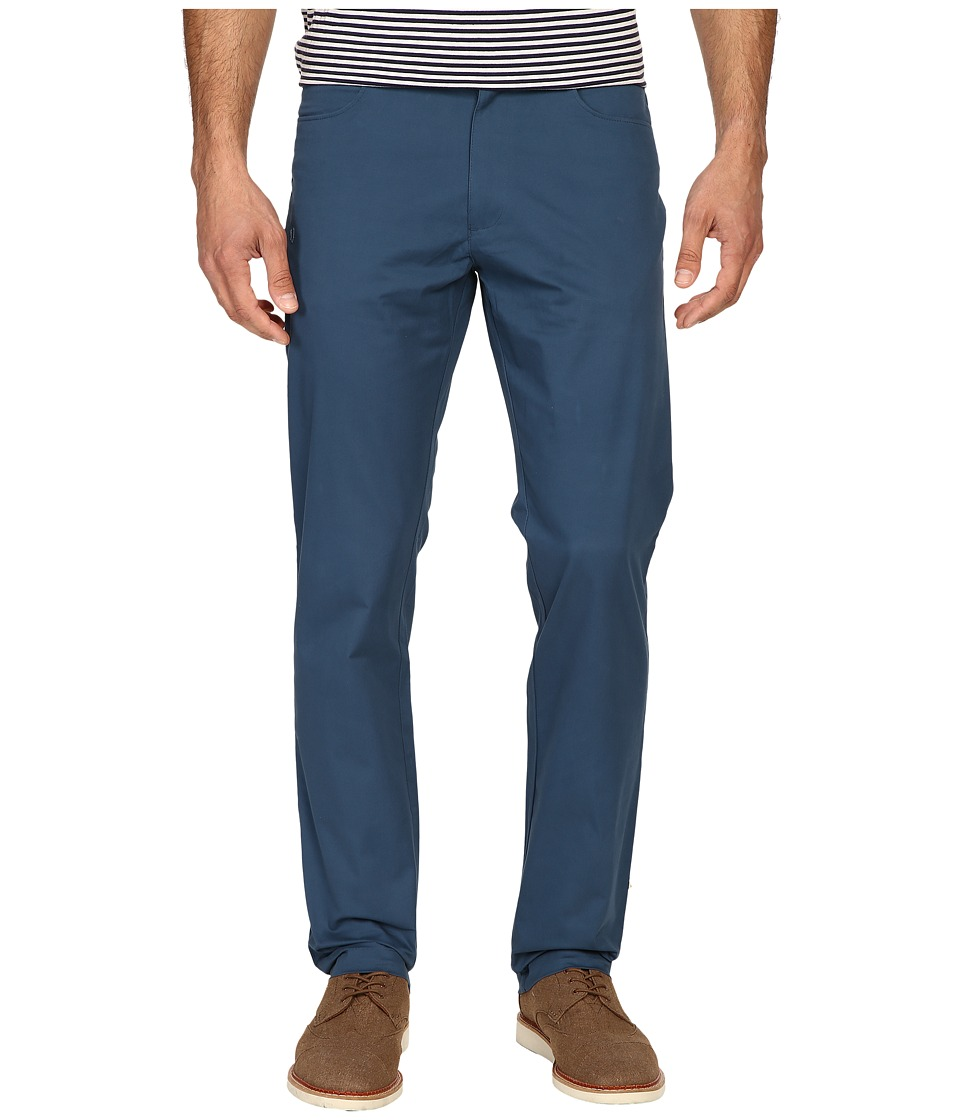 Calvin Klein - Four-Pocket Sateen Bowery Pants (Majorlica Blue) Men's Casual Pants