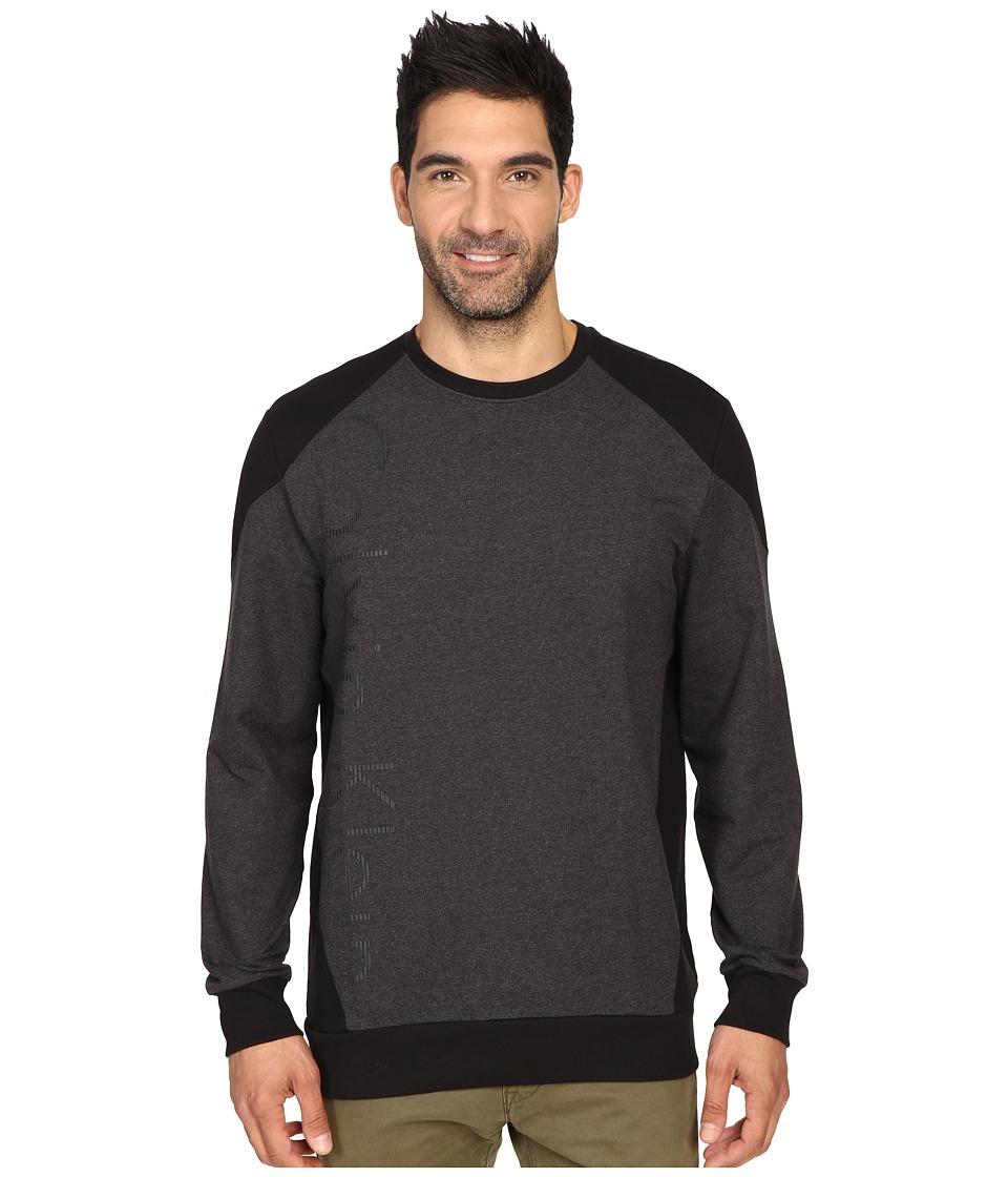 Calvin Klein - Long Sleeve Crew Color Blocked Sporty Shirt (Gunmetal Heather) Men's Long Sleeve Pullover