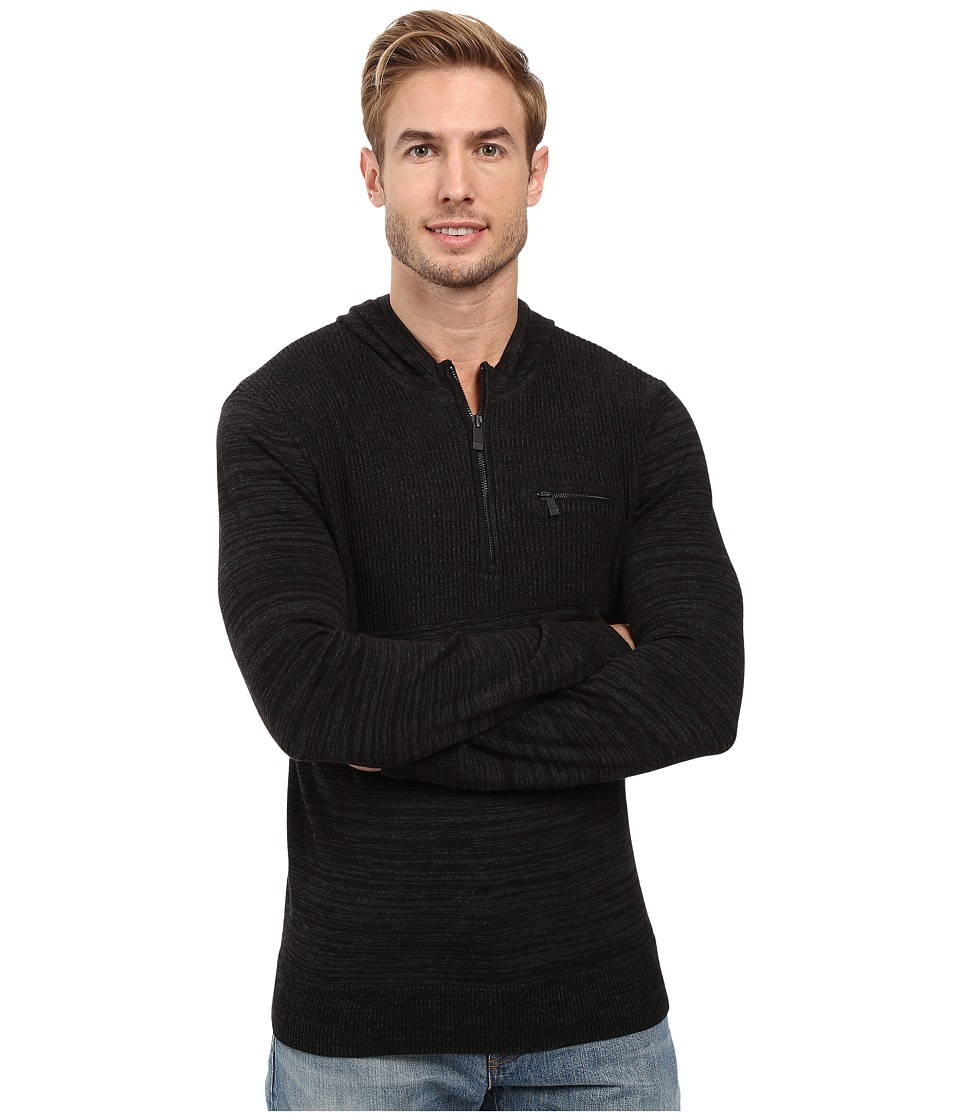 Calvin Klein - Cotton Modal Parallel Rib Sweater (Black Combo) Men's Sweater