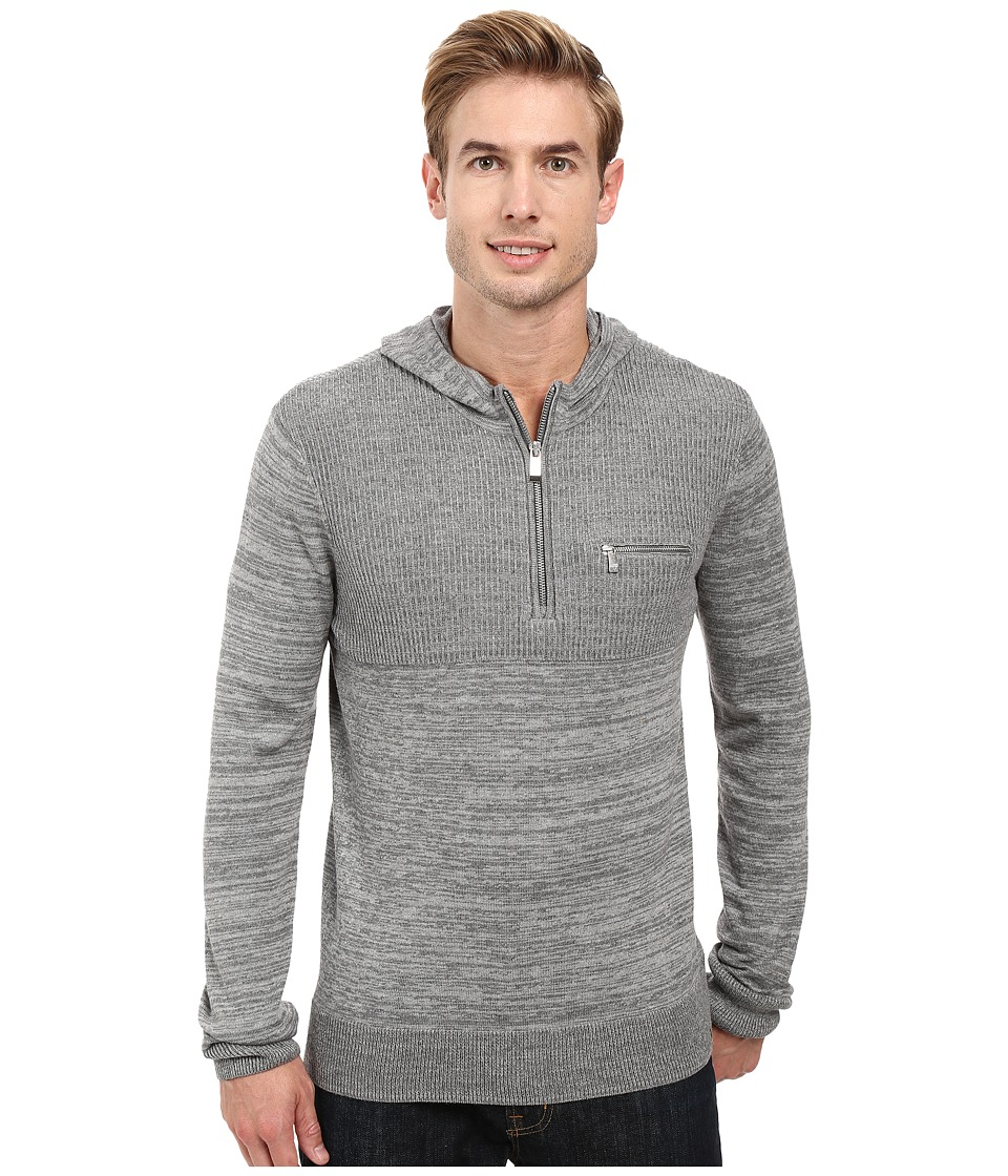 Calvin Klein - Cotton Modal Parallel Rib Sweater (Lockbox Heather Combo) Men's Sweater