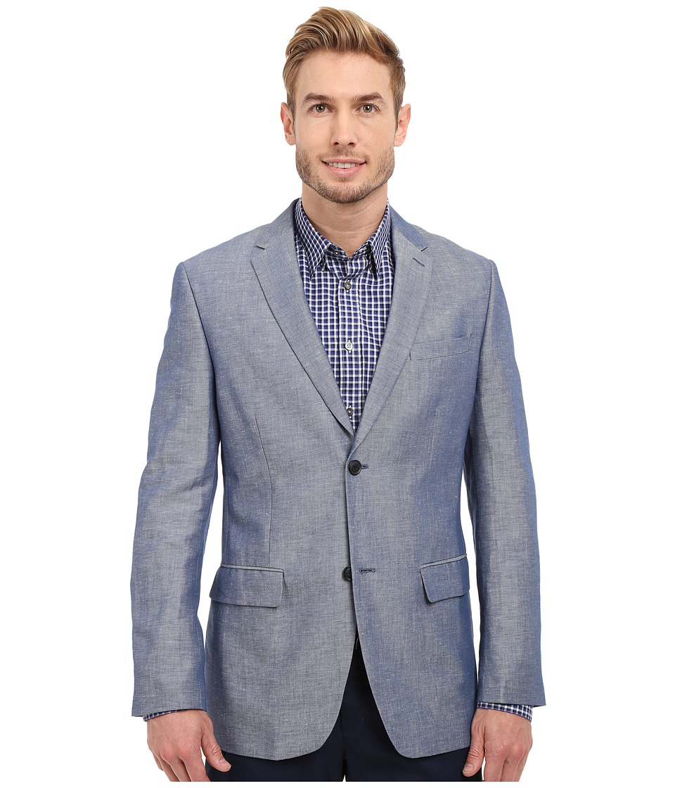 Perry Ellis - Linen Cotton Twill Suit Jacket (Blueprint) Men's Jacket