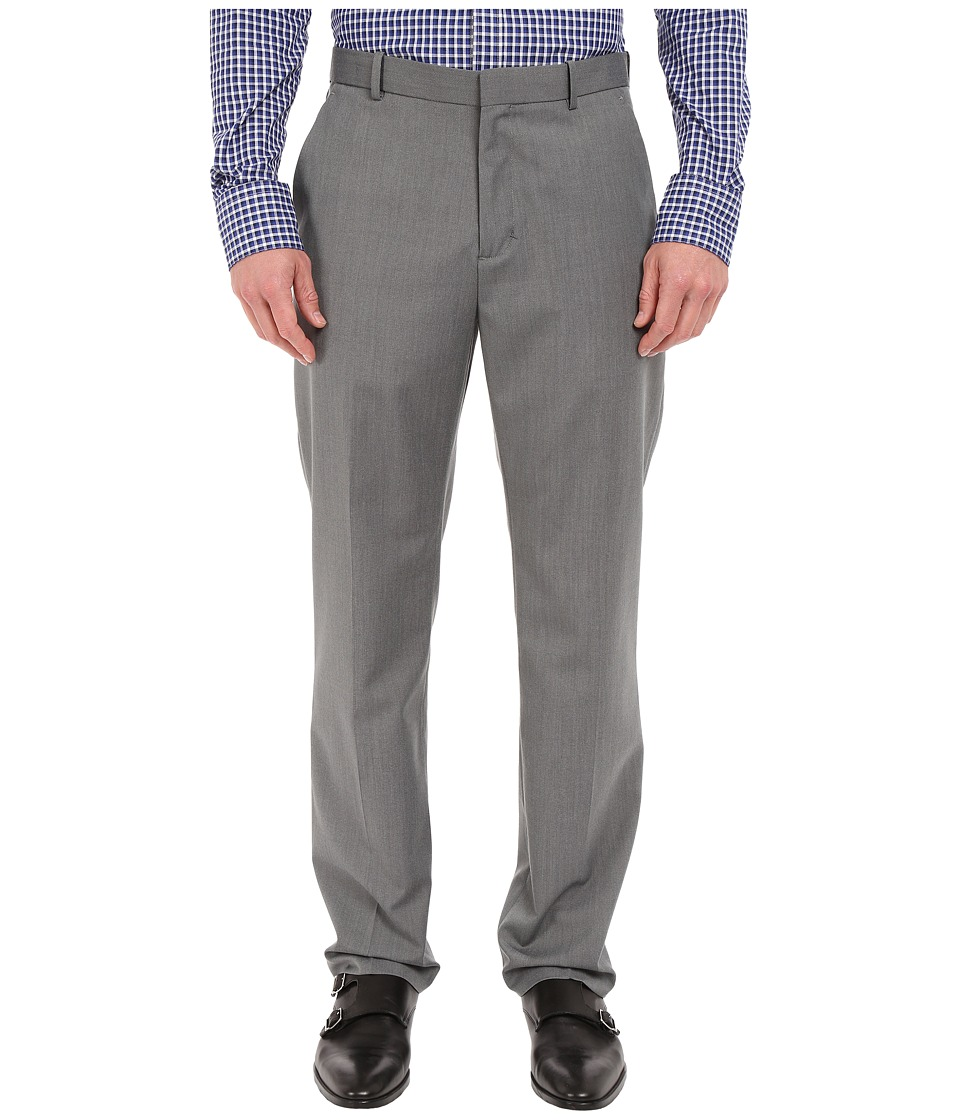 Perry Ellis - Textured Diamond Flat Front Suit Pants (Brushed Nickel) Men's Casual Pants