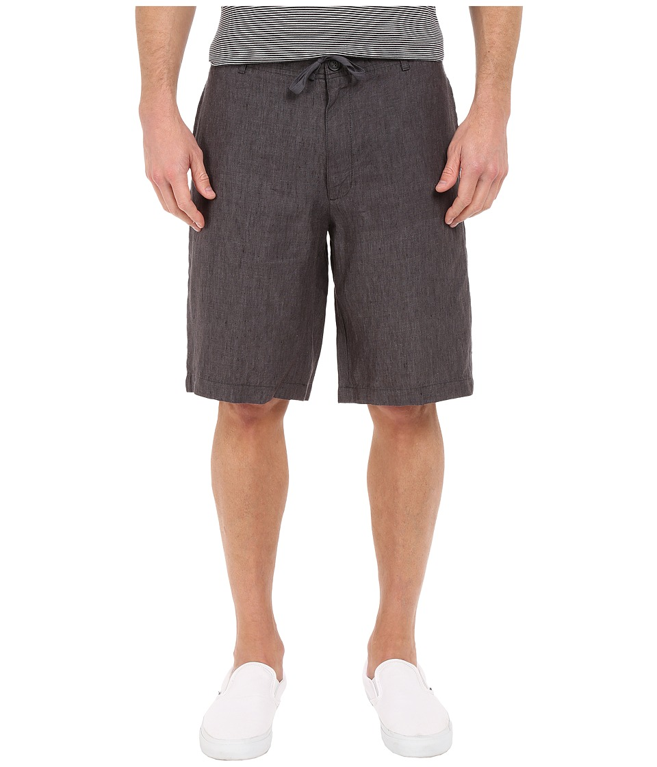 Perry Ellis - Linen Washed Drawstring Shorts (Slate) Men's Shorts