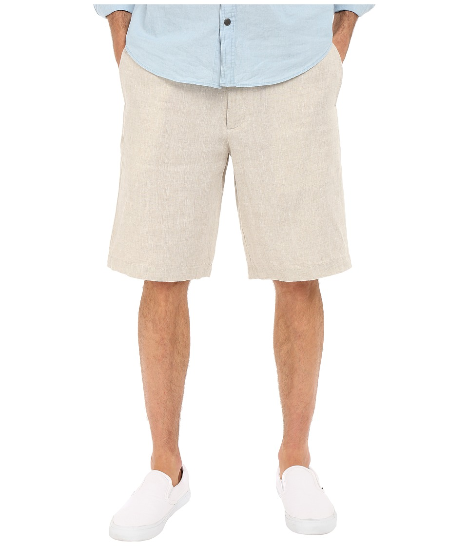 Perry Ellis - Linen Washed Drawstring Shorts (Natural Linen) Men's Shorts
