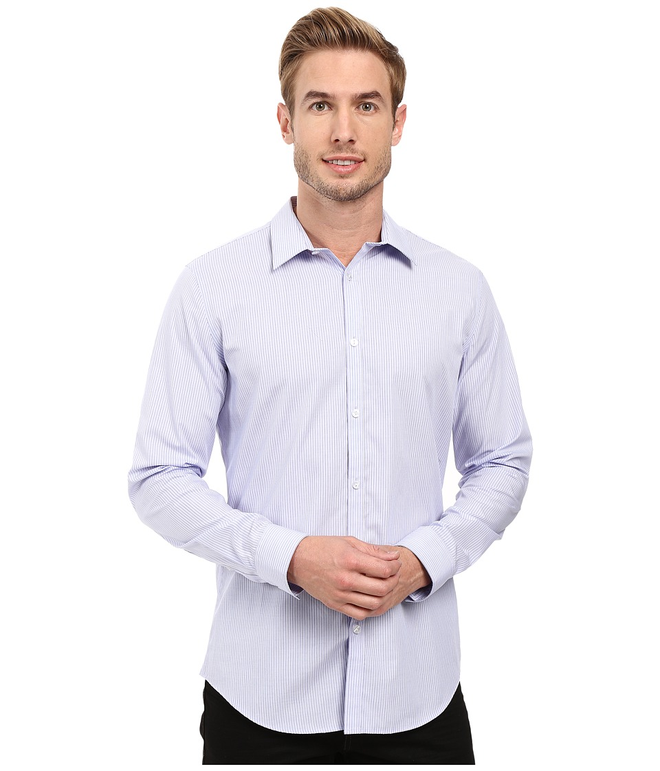 Calvin Klein - Long Sleeve Infinite Cool End on End Shirt (Sweet Lavender) Men's Long Sleeve Button Up