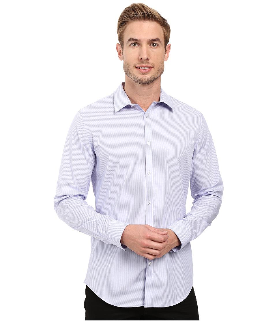 Calvin Klein - Long Sleeve Infinite Cool End on End Shirt (Sweet Lavender) Men's Long Sleeve Button Up