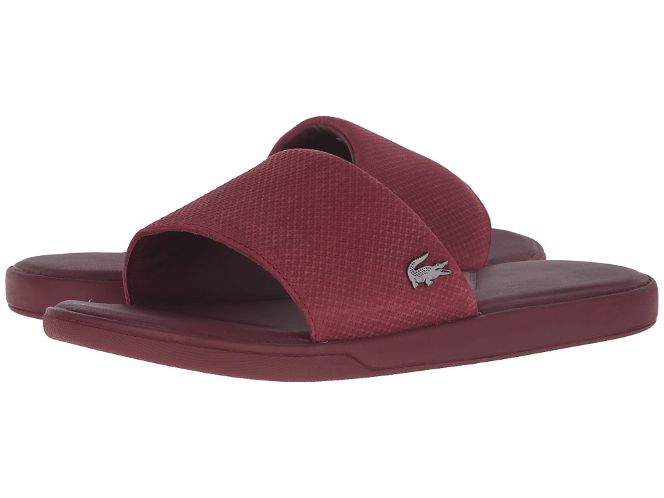 Lacoste - L.30 Slide Casual Cam (Dark Red) Men's Shoes