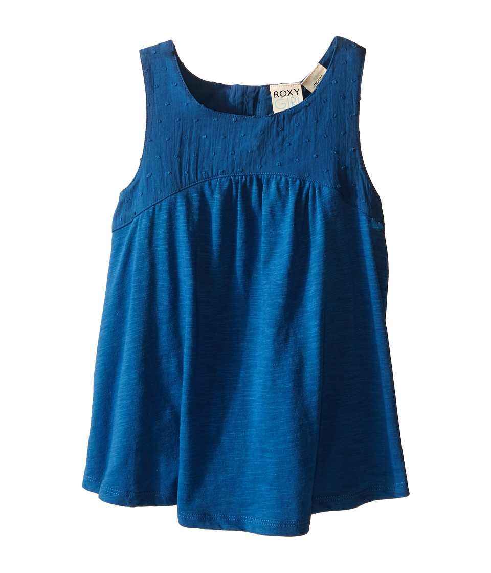 Roxy Kids - Beach Bummin Tank Top (Toddler/Little Kids) (Dark Blue) Girl's Sleeveless