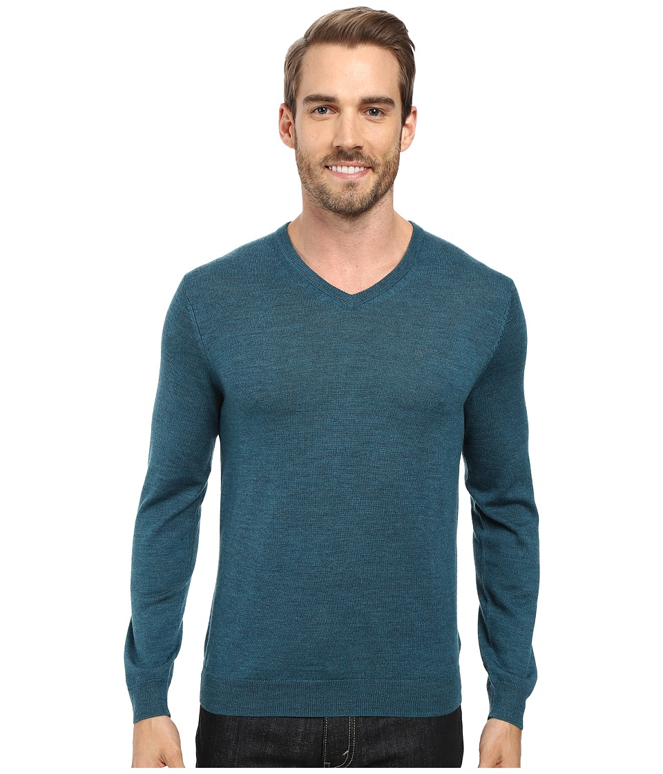Calvin Klein - Solid Merino V-Neck Sweater (Zola) Men's Sweater