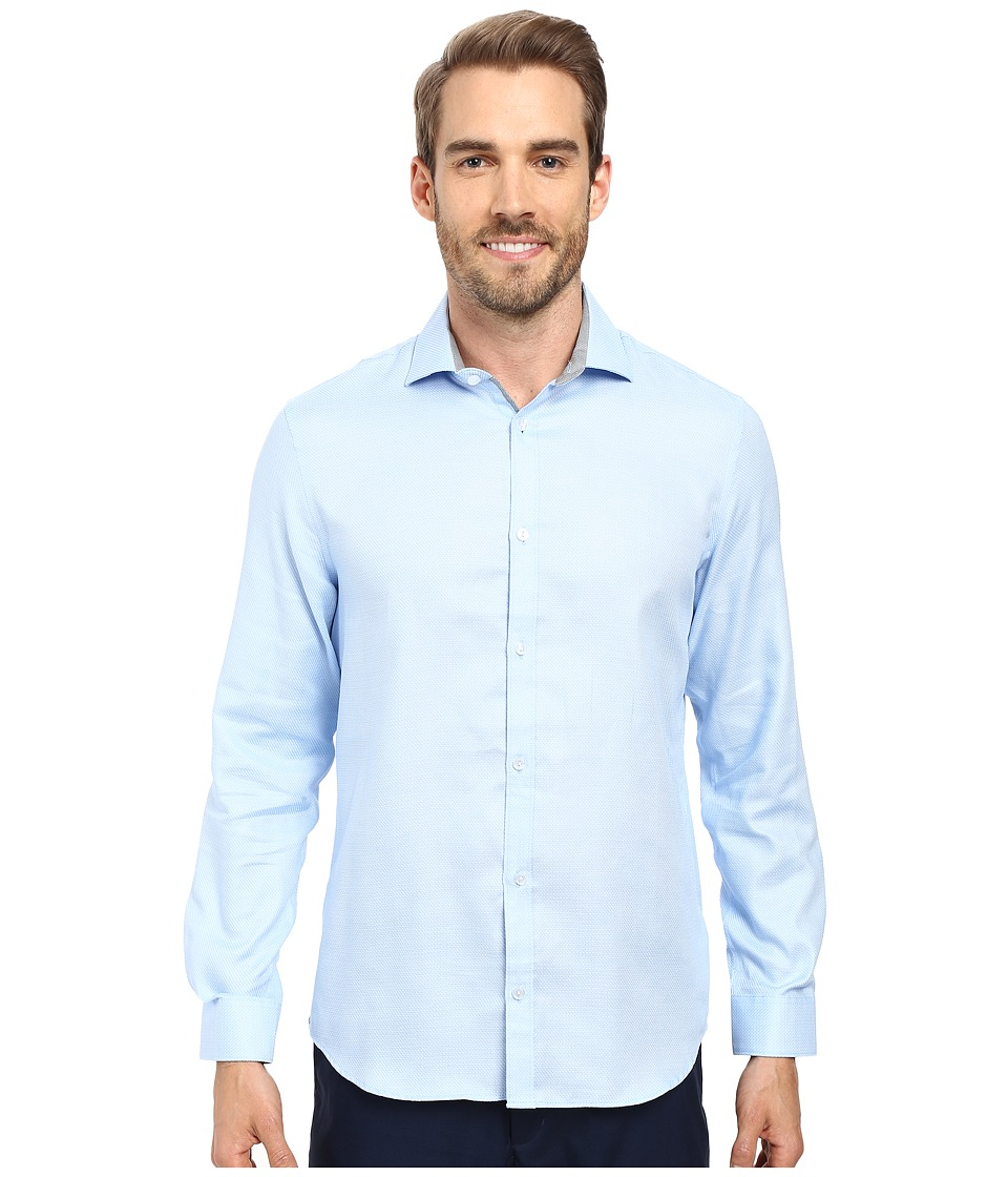 Calvin Klein - Long Sleeve Infinite Cool Dobby Twill Shirt (Delft) Men's Long Sleeve Button Up