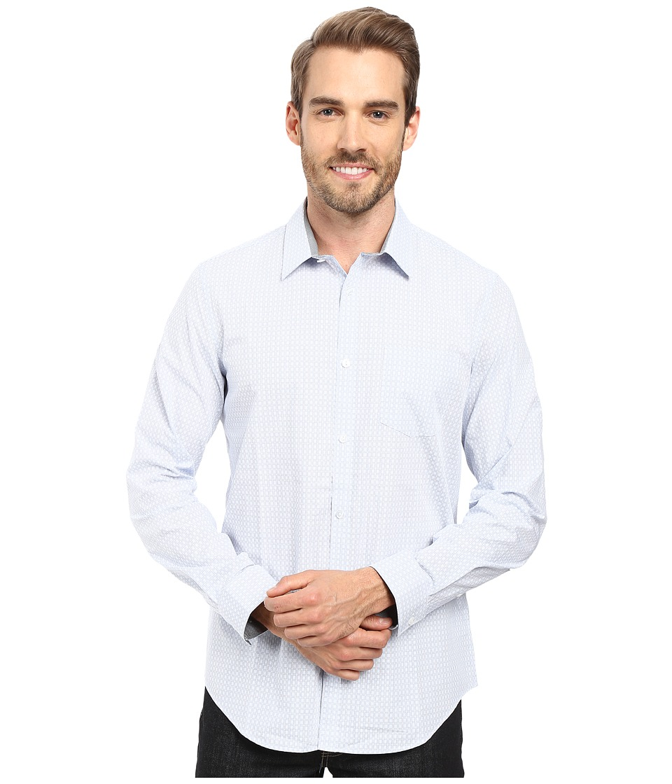 Calvin Klein - Long Sleeve Infinite Cool Square Cross Shirt (Delft) Men's Long Sleeve Button Up