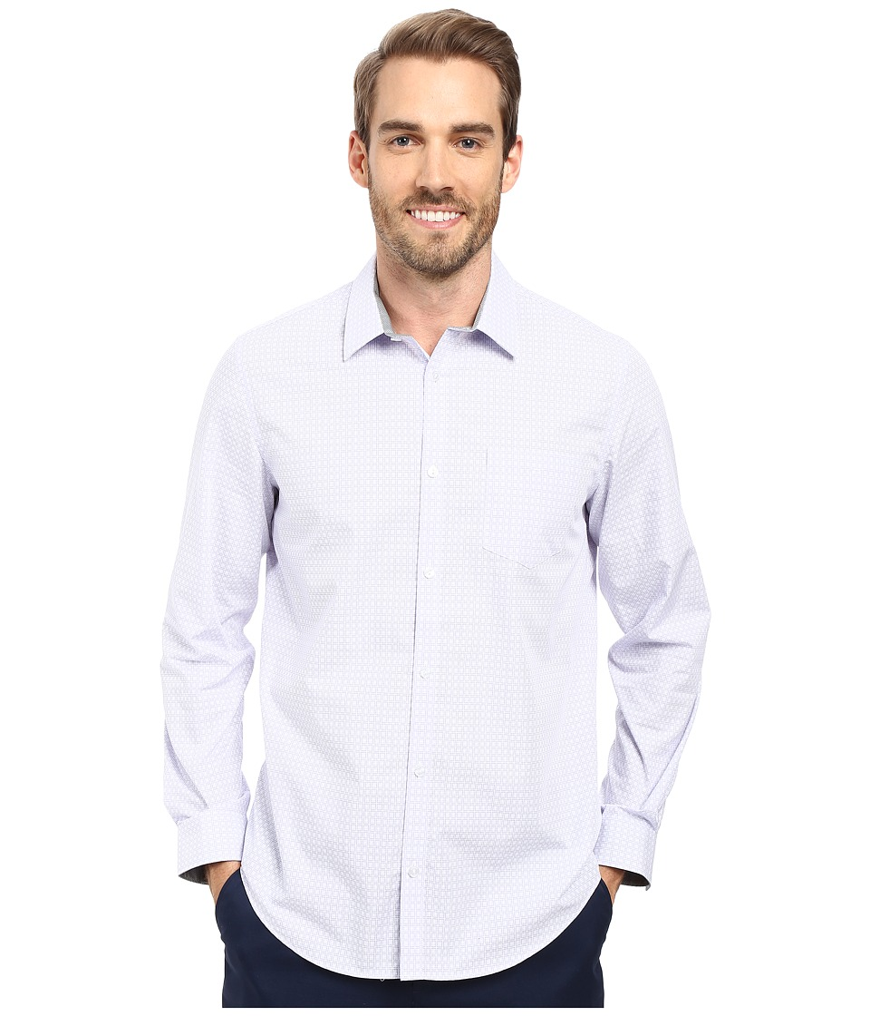 Calvin Klein - Long Sleeve Infinite Cool Square Cross Shirt (Sweet Lavender) Men's Long Sleeve Button Up