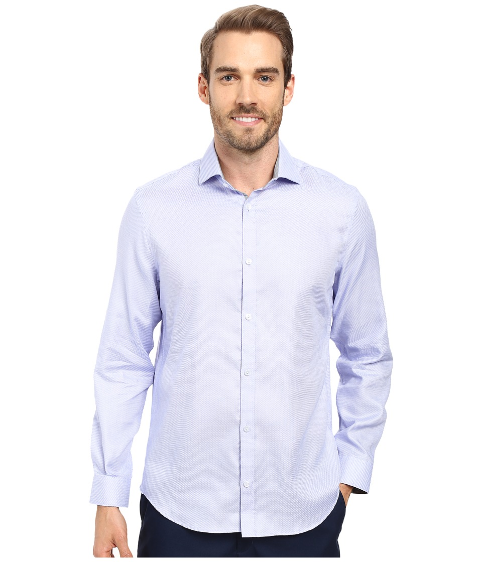 Calvin Klein - Long Sleeve Infinite Cool Dobby Twill Shirt (Heron) Men's Long Sleeve Button Up