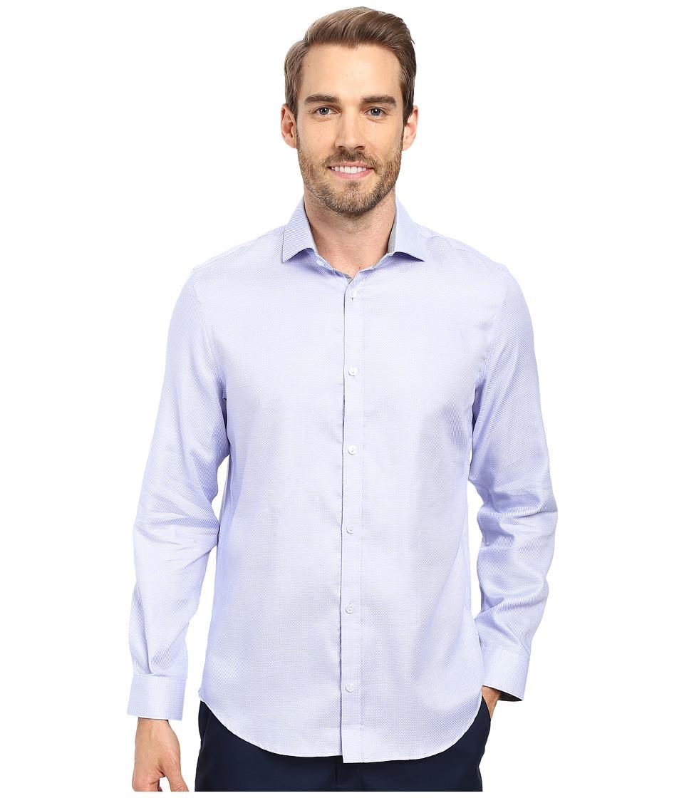 Calvin Klein - Long Sleeve Infinite Cool Dobby Twill Shirt (Heron) Men's Long Sleeve Button Up
