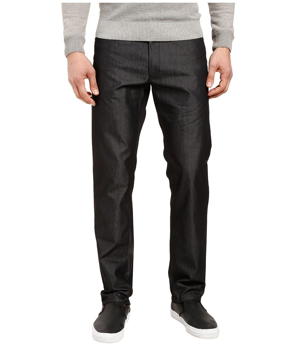 Calvin Klein - Five-Pocket Y/d Dobby Texture Pants (Black) Men's Casual Pants