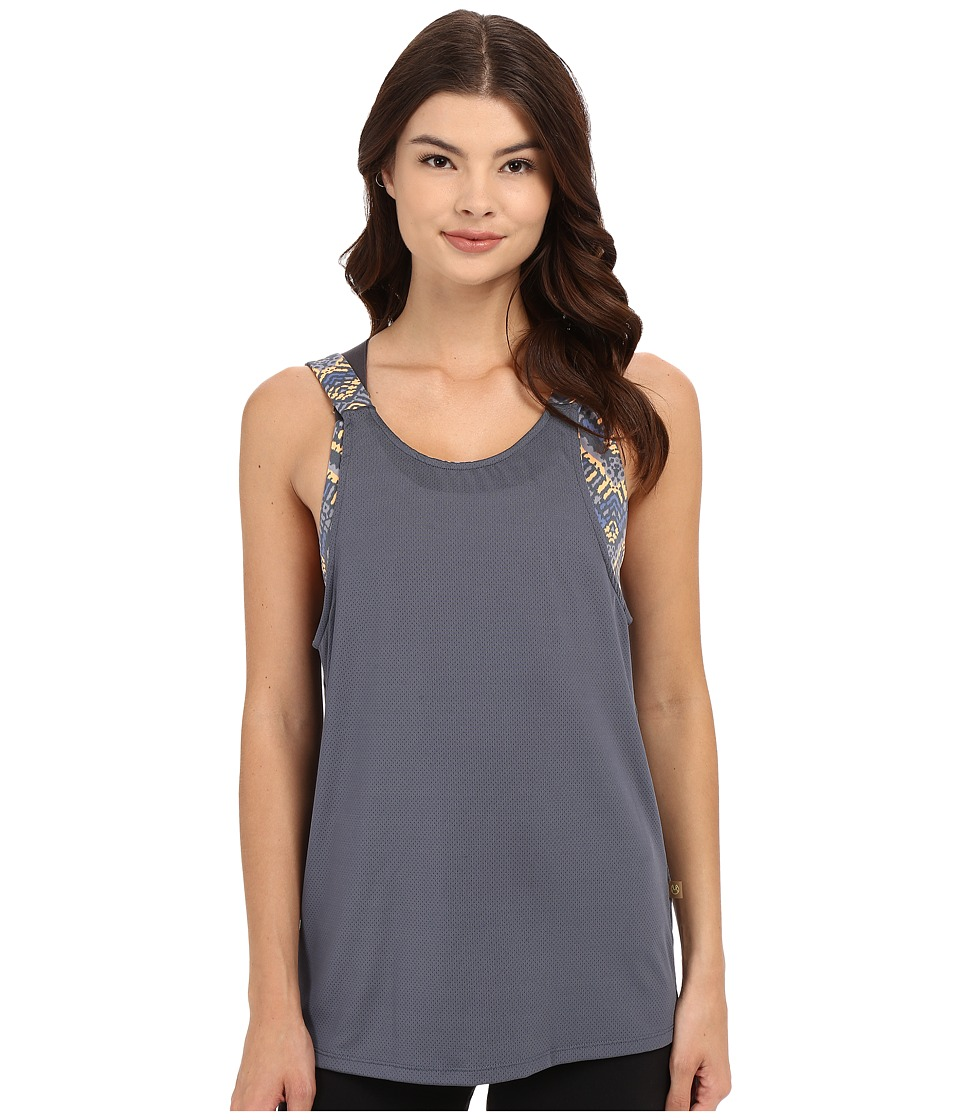 Maaji - Coolness Mind Tank Top (Grey) Women's Sleeveless