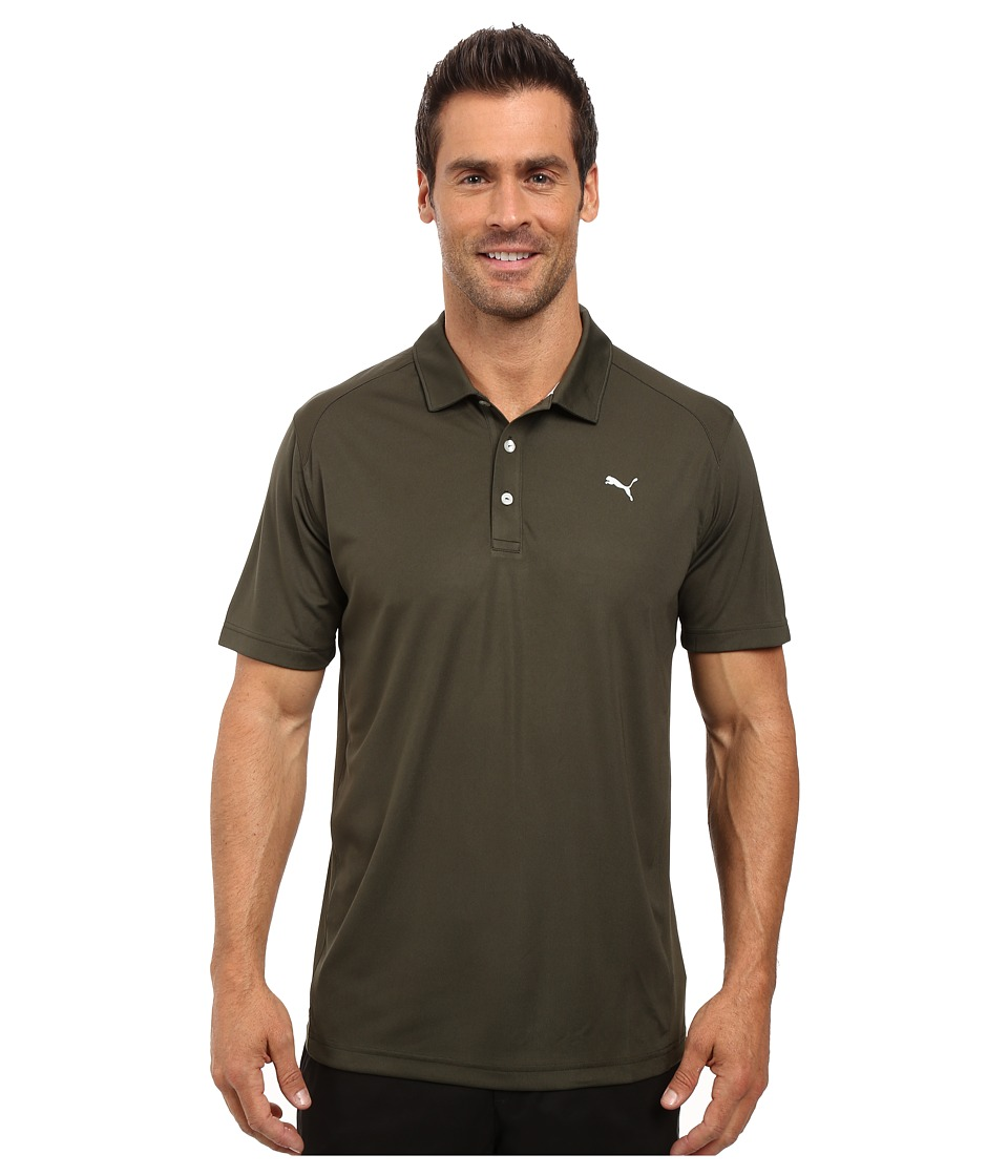 PUMA Golf - ESS Pounce Polo (Forest Night) Men's Clothing