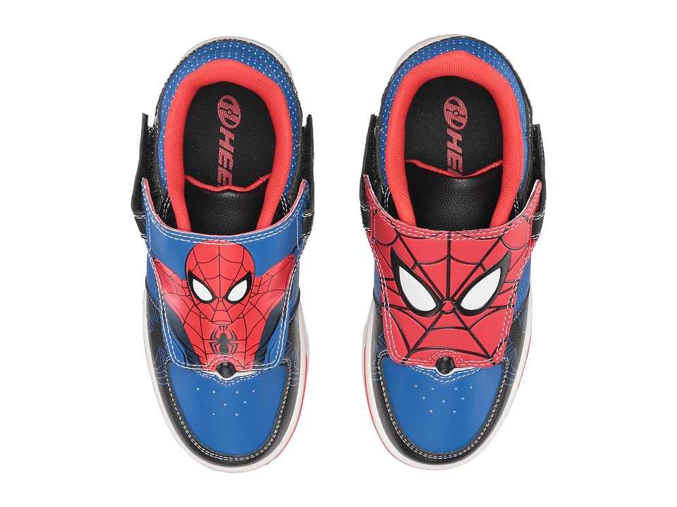 Heelys - Twisterx2 Spiderman (Little Kid/Big Kid) (Black/Blue/Red) Boys Shoes