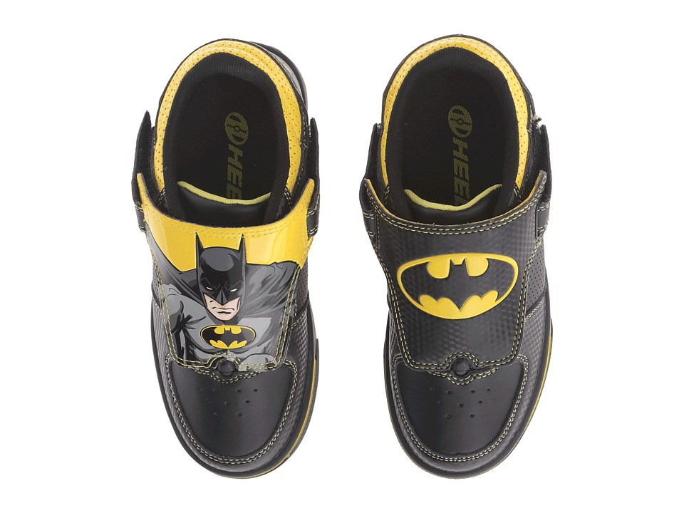 Heelys - Twisterx2 Batman (Little Kid/Big Kid) (Grey/Black/Yellow) Boys Shoes