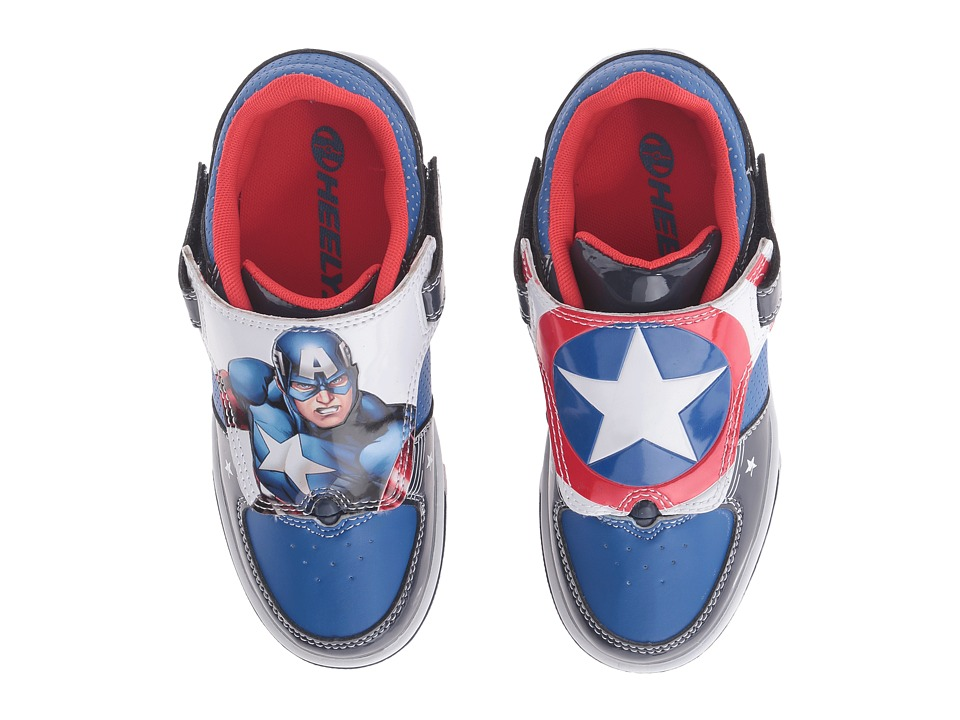 Heelys - Twisterx2 Captain America (Little Kid/Big Kid) (Navy/Blue/White) Boys Shoes