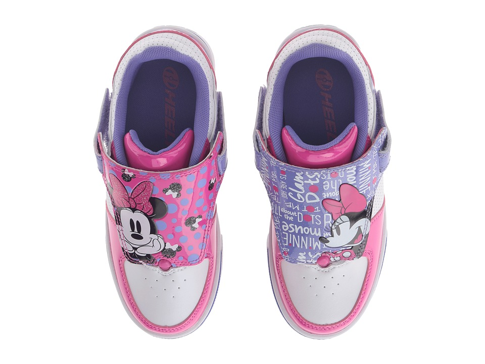Heelys - Twisterx2 Minnie Mouse (Little Kid/Big Kid) (White/Pink/Purple) Girls Shoes