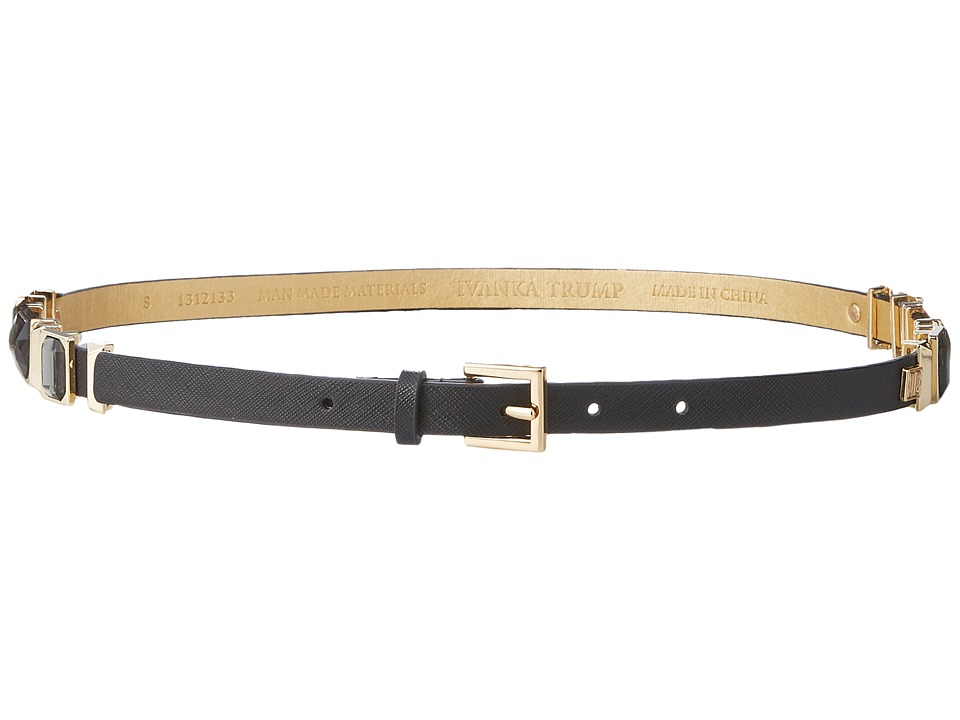 Ivanka Trump - 15mm Belt with Jeweled Hip Stations (Black Jet Gold) Women's Belts