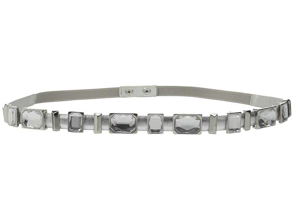 Ivanka Trump - Jeweled Slider Snapback Belt (Silver/Silver) Women's Belts