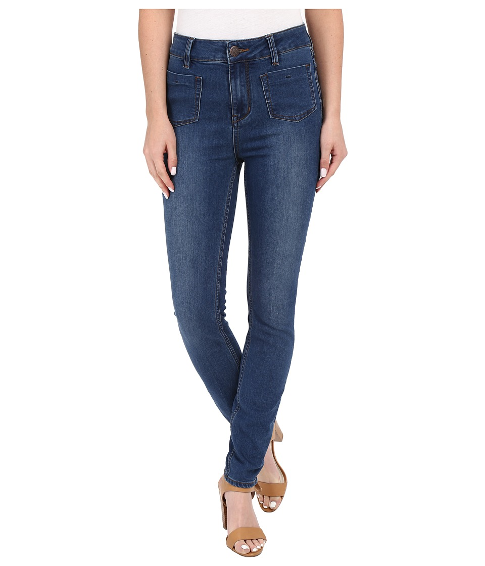 Free People - Beverley Skinny Jeans (Denim Blue) Women's Jeans