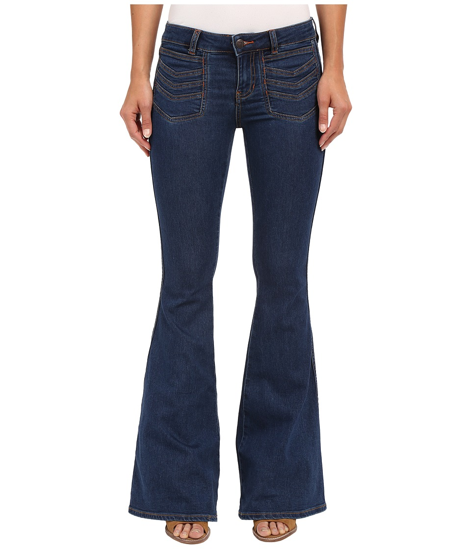 Free People - Stella High Rise Flare Jeans (Blue) Women's Jeans