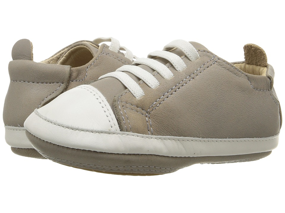 Old Soles - Eazy Tread (Infant/Toddler) (Elephant Grey/White) Boy's Shoes