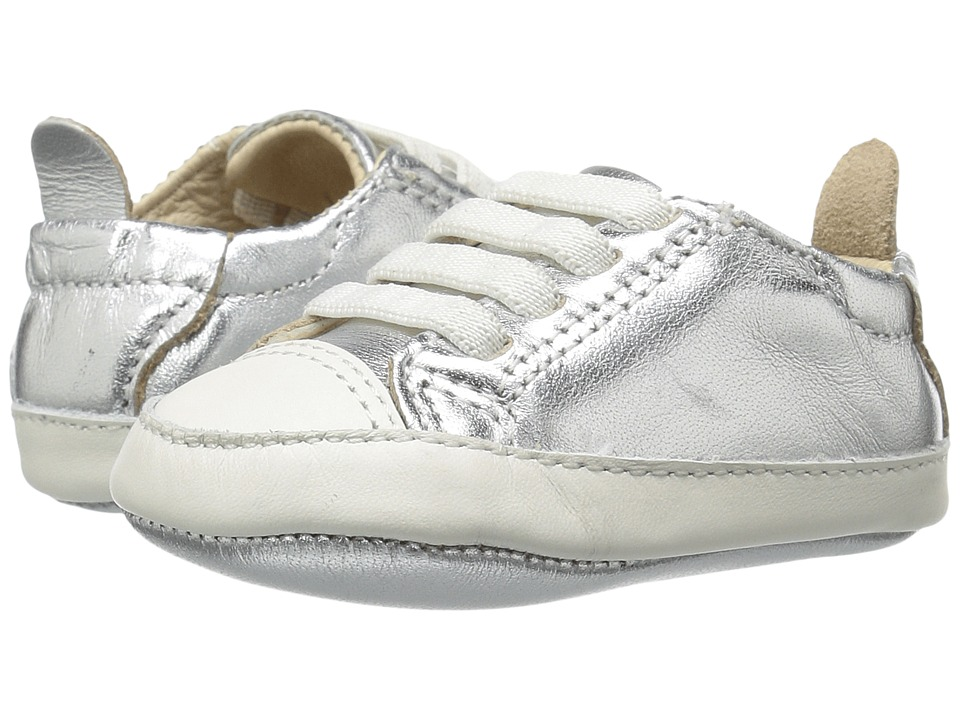 Old Soles - Eazy Tread (Infant/Toddler) (Silver/White) Kids Shoes