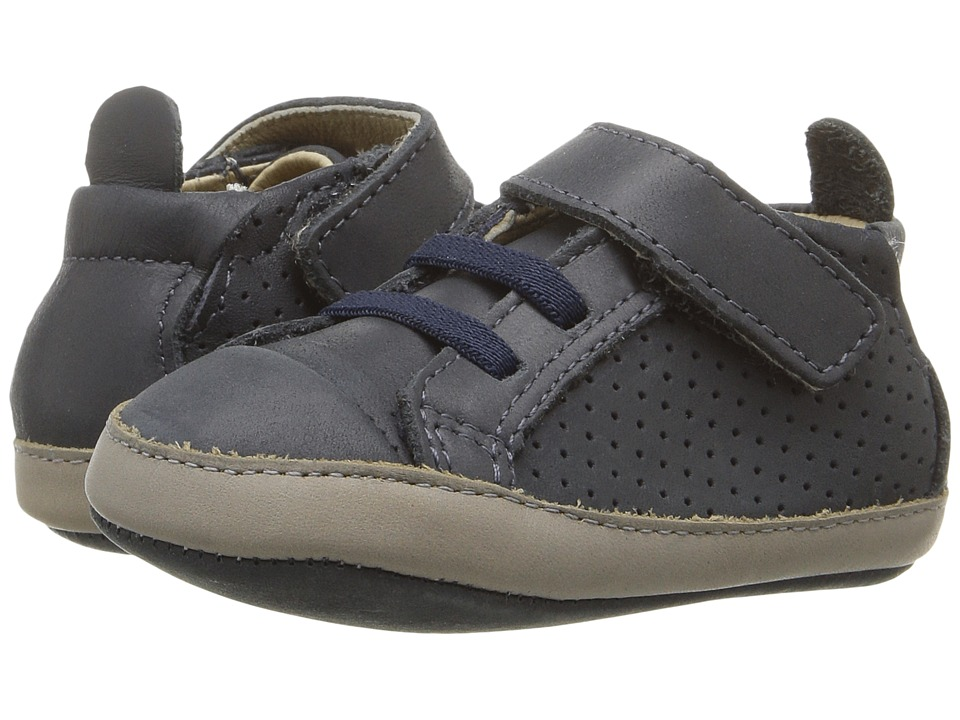 Old Soles - Cheer Bambini (Infant/Toddler) (Distressed Navy/Elephant Grey) Boys Shoes