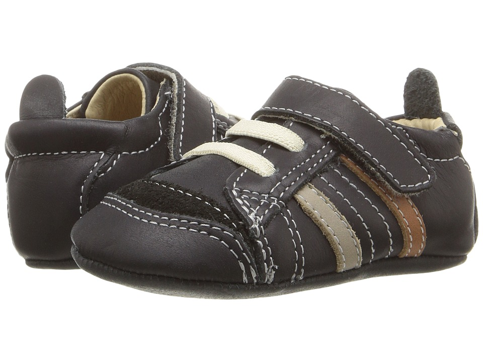 Old Soles - Urban Edge (Infant/Toddler) (Distressed Black/Elephant Grey/Tan) Boys Shoes