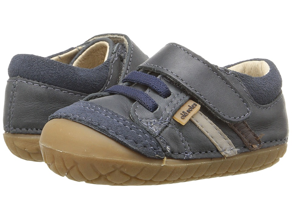 Old Soles - Pave Denzle (Infant/Toddler) (Distressed Navy/Elephant Grey/Brown) Boys Shoes