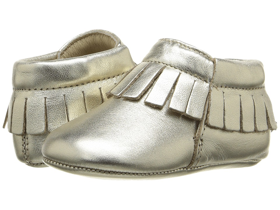 Old Soles - Fringe Boot (Infant/Toddler) (Gold) Girls Shoes